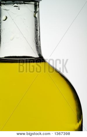 Olive Oil Bottle Closeup