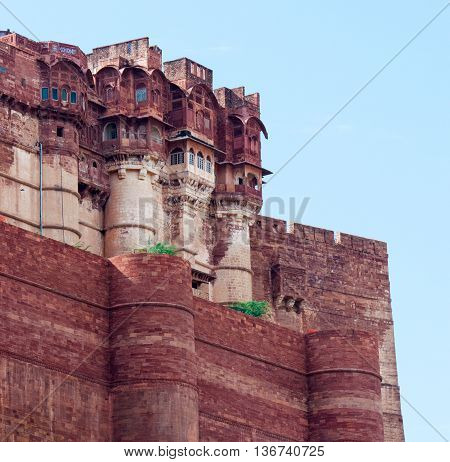 Mehrangarh Fort in Jodhpur in Rajasthan India