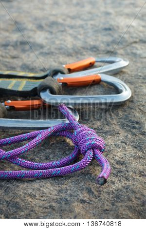 Equipment For Mountaineering On The Granite Stones