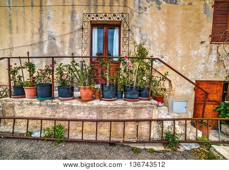 a picturesque corner in San Pantaleo Sardinia