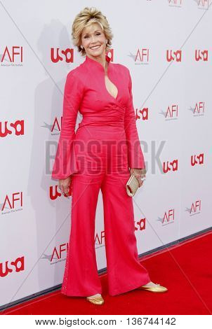 Jane Fonda at the 36th AFI Life Achievement Award held at the Kodak Theater in Hollywood, USA on June 12, 2008.