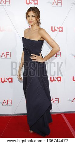 Eva Mendes at the 36th AFI Life Achievement Award held at the Kodak Theater in Hollywood, USA on June 12, 2008.