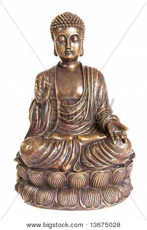 Figure of sitting and meditating Buddha