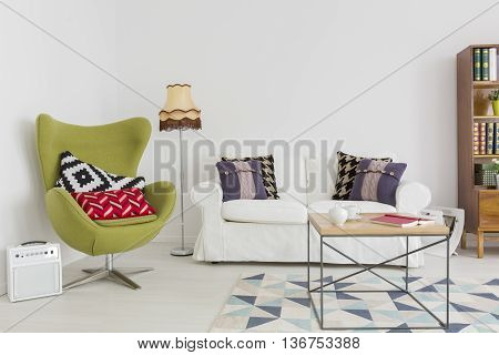 Fusion Of Styles And Patterns In A Contemporary Interior