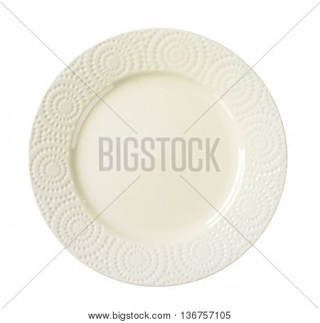 dinner plate with decorative rim