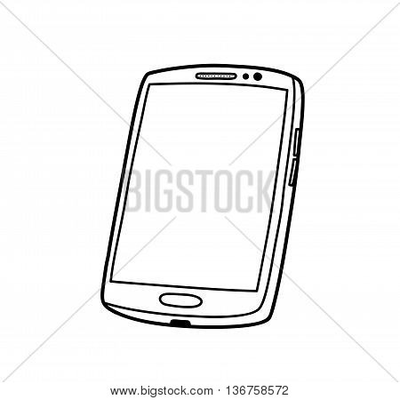 Smartphone Doodle, a hand drawn vector illustration of a high-end smartphone, it costs around $700-$900, the kind of phone you wanna brag about to your less fortunate friends.