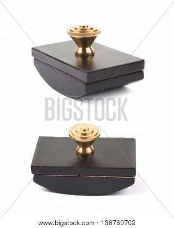 Blotting paper ink press isolated over the white background, set of two different foreshortenings