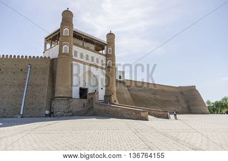 Gate Of Bukhara Fortress - The Ark, Uzbekistan. Central Asia.