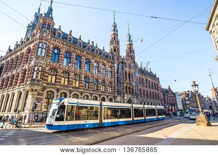 The Magna Plaza In Amsterdam, Netherlands