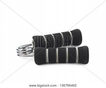 Black carpal expander training device isolated over the white background