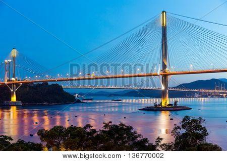 Bay bridge in Hong Kong