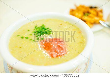 Crab congee