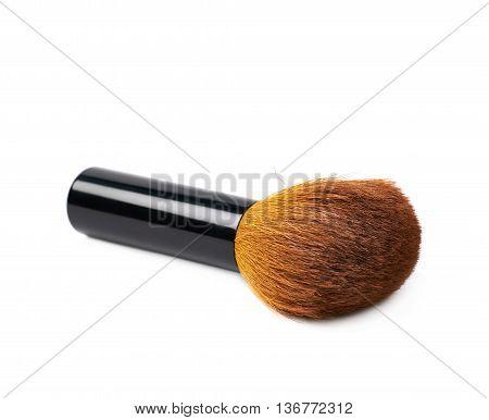 Kabuki mashroom makeup brush isolated over the white background