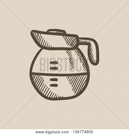 Carafe vector sketch icon isolated on background. Hand drawn Carafe icon. Carafe sketch icon for infographic, website or app.