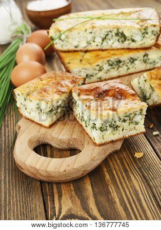 Pie With Spring Onion
