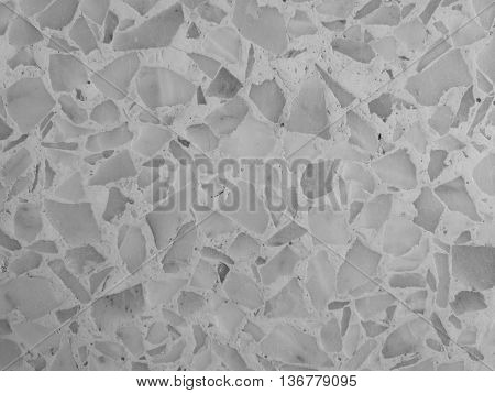 terrazzo floor background and texture in monochrome
