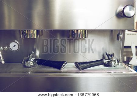 Tool Of Automatic Coffee Machine In Cafe Coffee Shop