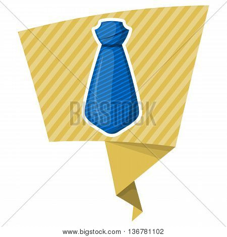 Blue Tie Colorful Icon