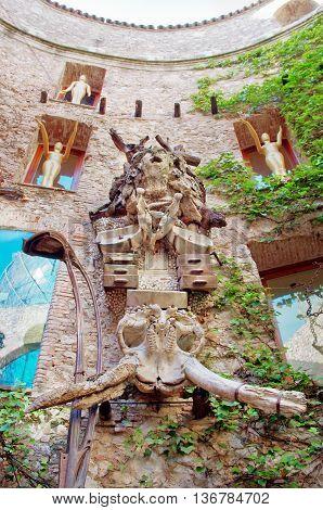 Dali Theatre And Museum In Figueres, Catalunia, Spain.