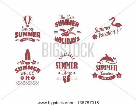 Summer sale logo vector illustration. Summer sale badge logo isolated on white background. Summer sale special shopping offer logo vector icon illustration silhouette
