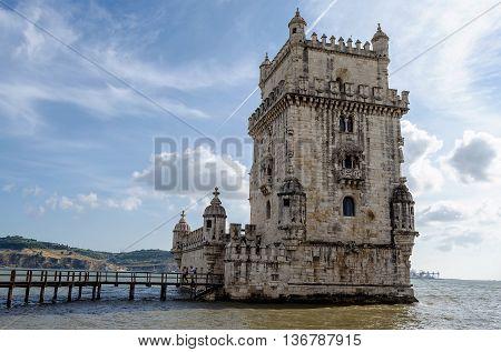 Lisbon Torre de Belem, in the Portugal