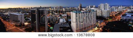 Honolulu Morning City Panorama