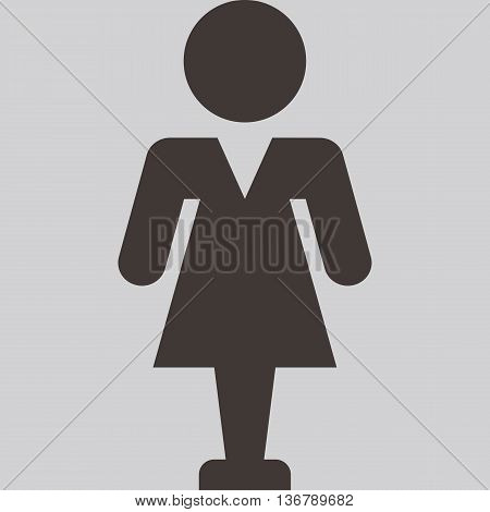 Silhouette of the object - People icon - woman