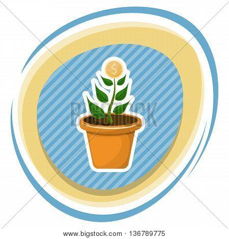 Dollar Plant Colorful Icon