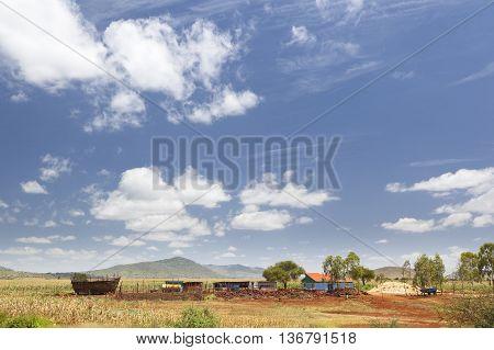 Central Kenyan Farm Landscape
