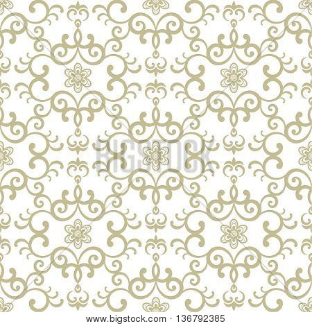 Vector green seamless pattern. Luxury elegant texture. Pattern can be used as a background wallpaper wrapper page fill element of ornate decoration