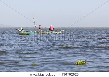 Fishermen At Lake Naivasha, Kenya, Editorial