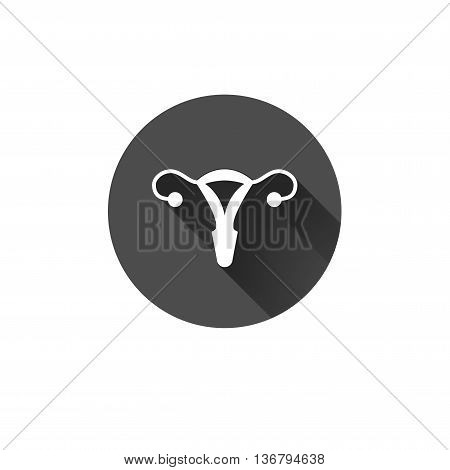 Vector uterus outline healthcare gynecology icon design