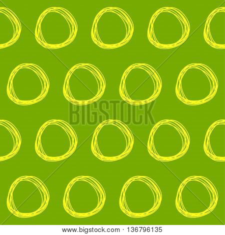 Handmade Childish Doodle Seamless Abstract Pattern Background.