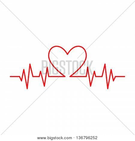 Medical vector icon of cardiogram. Vector illustration