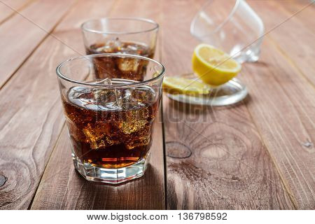 The Cooling Drink With Ice And Lemon