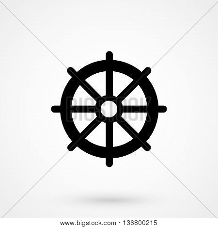 Helm Icon On White Background In Flat Style. Simple Vector