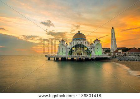 Malacca islam mosque is beutiful islam mosque in Malacca Malaysia.