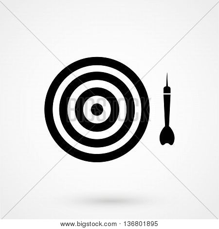 Dart Icon On White Background In Flat Style. Simple Vector