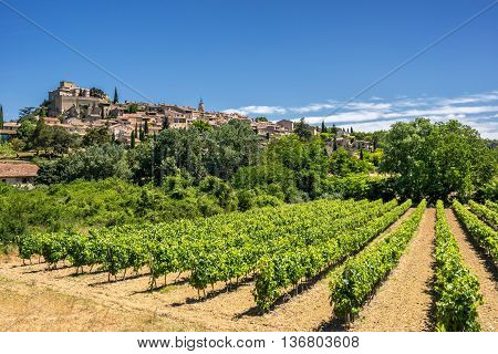 The hill top village of Ansouis in the Luberon Provence