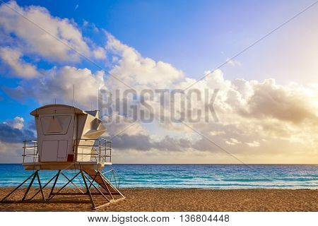 Fort Lauderdale beach morning sunrise in Florida USA baywatch tower