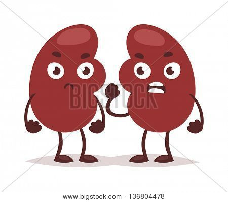 Kidney infection vector illustration.