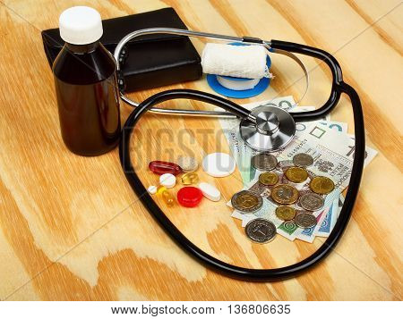 Stethoscope On Polish Money