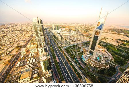 Sunset Over Sheikh Zayed Road, Dubai
