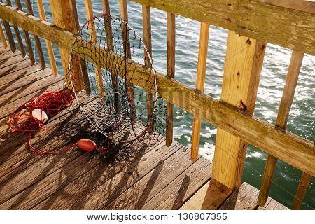 Daytona Beach in Florida fishing tackle at pier USA
