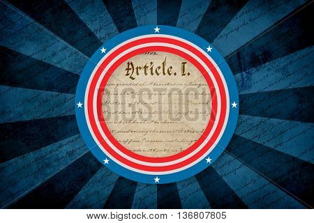 declaration of independence against focus on circle