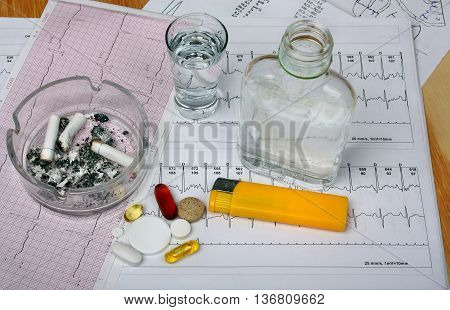 Cigarettes In The Ashtray, Vodka On The Table