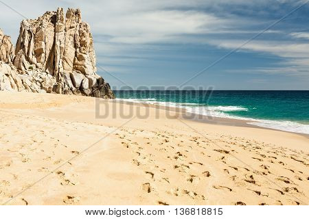 Cabo San Lucas isolated beach in Mexico