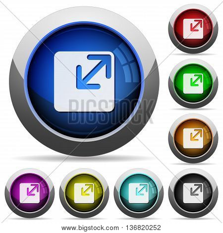 Set of round glossy Resize window buttons. Arranged layer structure.