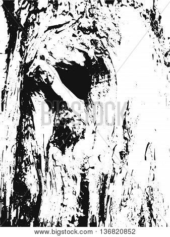 Tree Texture. Tree Background. Tree Effect. Tree Overlay. Grunge Black and White Distress Texture. Scratch Texture. Dirty Texture. Wall Background. Vector Illustration. Wooden texure. Wood texture