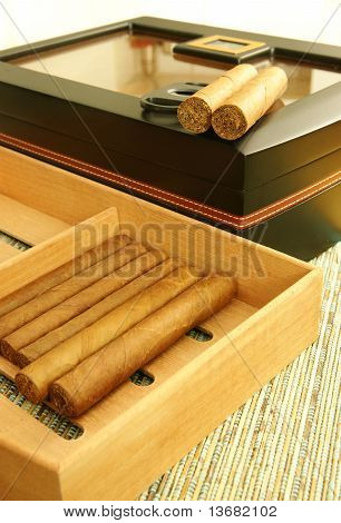 Cigars And Humidor